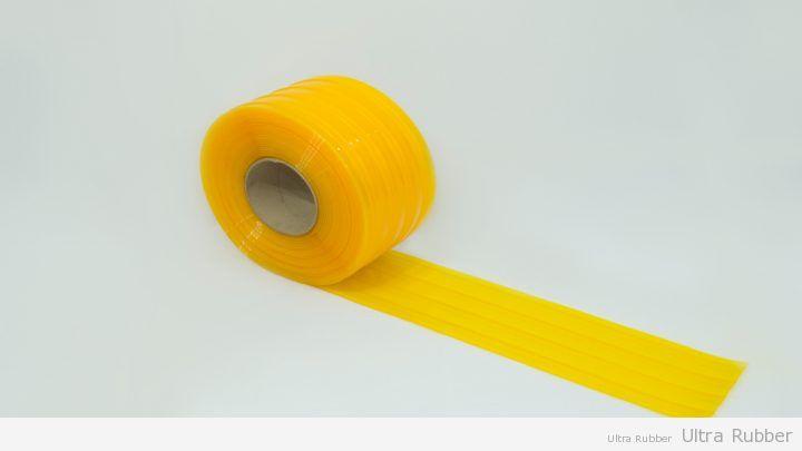 Bobina de pvc estriada Amarela